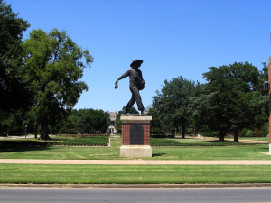 seed sower statue oklahoma sooners small