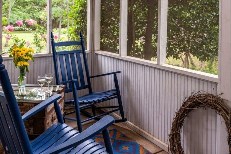 Garden Gate porch romantic weekend getaways in norman ok