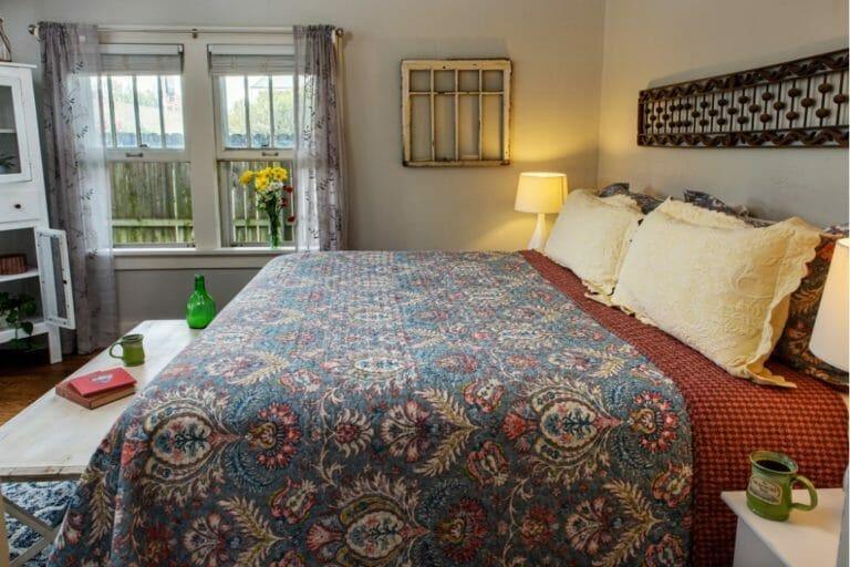 Prairie House bedroom romantic weekend getaways oklahoma