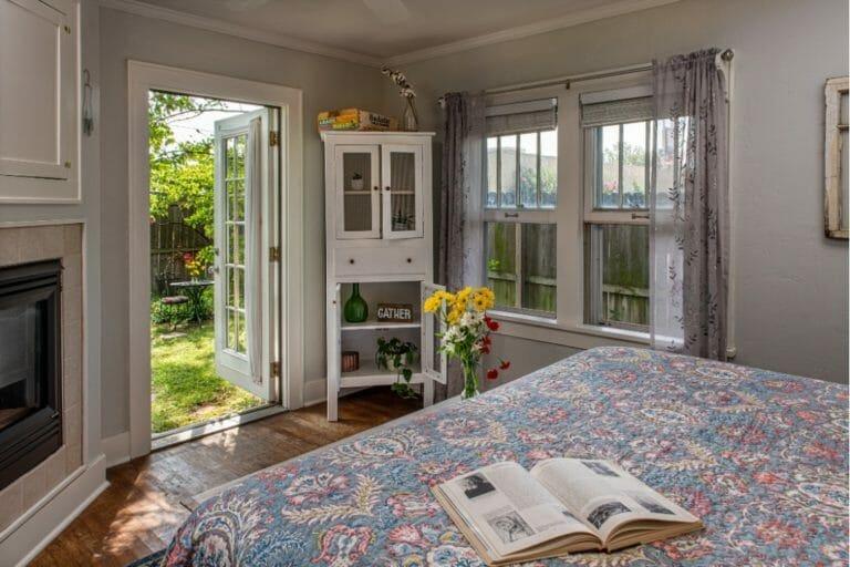 Prairie House bedroom to garden romantic weekend getaways oklahoma